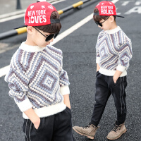 儿童中大童洋气加绒加厚高领水貂绒打底衫潮童装男童毛衣