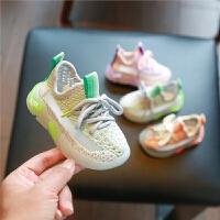 婴儿学步鞋软底春款女透气网鞋运动鞋夏季一岁男宝宝椰子鞋子