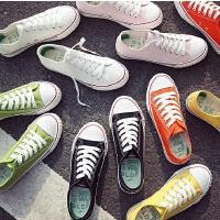 女大童帆布鞋春秋季糖果色女童板鞋休闲女学生鞋