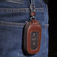 车钥匙包通用男腰挂汽车钥匙包适用宝马奔驰路虎大众奥迪别克 浅棕色 棕色