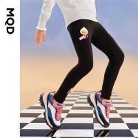【2件3折后价:63】MQD童装女童打底裤21秋装新款儿童卡通运动弹力裤外穿潮