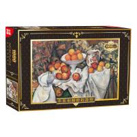 古部成人拼图 世界名画1000片平面拼图 苹果和柳橙的静物油画拼图
