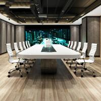 烤漆会议桌长桌简约现代办公家具大型会议桌椅长条桌