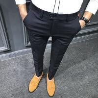 男士西裤修身小脚裤英伦长裤韩版潮男青年百搭休闲长裤子