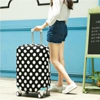 旅行拉杆箱套子行李箱保护套24 28寸弹力防尘罩加厚耐磨皮箱子套 黑白数字s 18-20寸