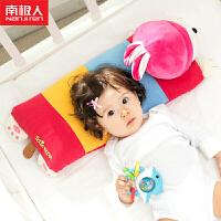 南极人婴儿定型枕头全棉0-6岁儿童枕头宝宝荞麦壳定型枕小兔子卡通公仔造型