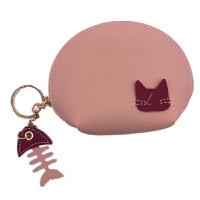 猫咪零钱包女韩国迷你拉链硬币包半圆学生创意卡通可爱手拿小钱袋