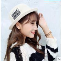 英伦小礼帽可爱圆顶渔夫帽针织帽子女韩版时尚百搭休闲爵士帽
