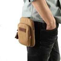帆布休闲单肩包斜挎包男士腰包小挂包挂脖胸包手机包烟包护照包