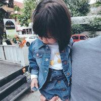女童牛仔外套洋气欧美蓝色经典时尚春秋新款儿童女宝宝外套