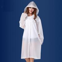 雨衣 男女成人半透明磨砂加厚雨披2019夏季新款韩版时尚防雨防风透气雨衣雨具