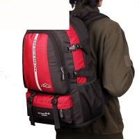 新款双肩包男女韩版户外旅行背包多功能大容量登山包50L30L电脑包 红色