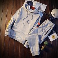卫衣男士套装连帽学生套头潮流休闲运动服新款男装2018春装两件套