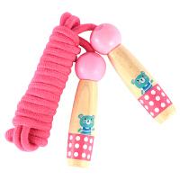 儿童跳绳幼儿园男女孩初学体育可调节木质跳绳小学生单
