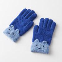 6-9�q小�W生手套女秋冬天保暖��字孩子冬毛��和�手套男款