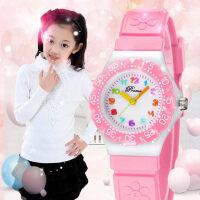 儿童手表女孩男孩防水小学生可爱时尚小巧果冻女童小孩少女手表女