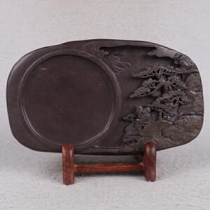 中国非物质文化遗产传承人群 钟景锐作品《指日高升》砚 斧柯东