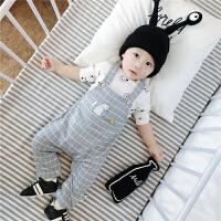 婴儿背带裤春秋季 男女宝宝开档春款 新生外出服01岁3-6-12个月