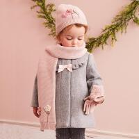 [3折价:146.1]戴维贝拉秋冬季女童呢外套 女宝宝呢大衣 DB5721