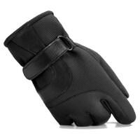 男士户外运动手套加厚加绒保暖防滑手套骑车防风防寒防滑棉手套