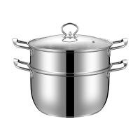 加厚不锈钢奶锅小蒸锅迷你汤锅牛奶煮面婴儿辅食锅电磁炉16-26cm 锅
