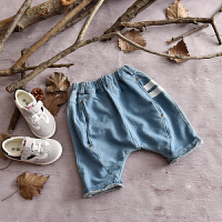 2018夏季男童大PP五分裤薄款儿童牛仔短裤女童中小童韩版潮童马裤