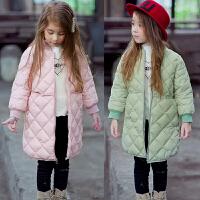 儿童装女童中长款韩版加厚棉衣棉袄外套2018春冬新款E286 GG