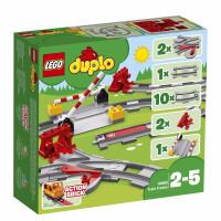 【当当自营】LEGO乐高积木得宝DUPLO系列10882 2-5岁火车轨道