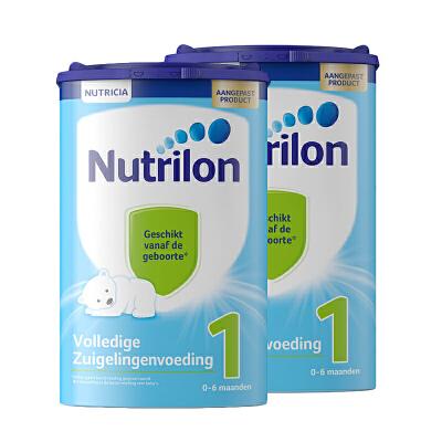 【1段】保税区发货 荷兰牛栏Nutrilon诺优能 婴幼儿奶粉 一段(0-6个月)  800g*2罐 海外购 新老包装随 机发货