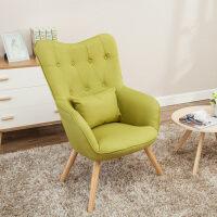 简约卧室北欧沙发椅创意欧式设计师高背椅书房休闲单人沙发老虎椅