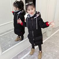 中大儿童洋气女孩长款棉袄冬季童装女童冬装棉衣