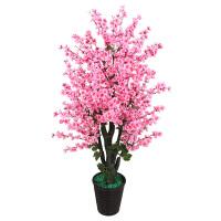 大型仿真花客厅摆设装饰品桃树盆栽落地花室内树假塑料植物大盆栽
