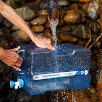 户外饮用纯净水桶便携带龙头车载PC塑料水箱带盖家用储水桶
