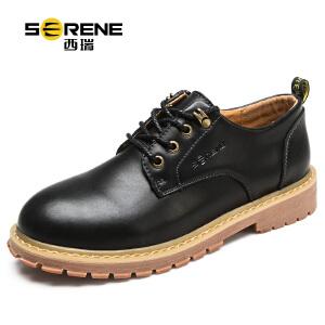 西瑞真皮工装鞋秋季新款休闲男士皮鞋子低帮单鞋6320-2