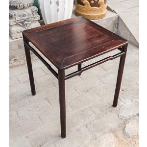 X642 民国《红酸枝小方桌》(明式小方桌,简约古朴大方,包浆丰润,品相完美,收藏使用两相宜。)