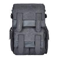 卡登休闲双肩摄影包 佳能尼康帆布单反相机包户外旅行背包 烟灰色