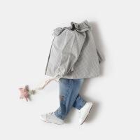春秋女宝宝长袖纯棉格子衬衫小童衬衣女童娃娃衫婴儿洋气0潮1-3岁