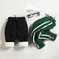 冬季男童加绒加厚保暖裤子儿童小童男孩宝宝休闲裤0婴儿长裤1-3岁