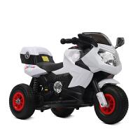儿童电动摩托车三轮车玩具充电童车带遥控3-5-6-7岁男女孩可坐人 白充气双驱双电瓶+手机蓝牙+遥控 送头盔+毛绒玩具