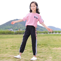 女童运动套装夏装中大童儿童夏季女孩短袖两件套