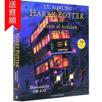 送音频 哈利波特与阿兹卡班的囚徒3 插图彩绘版 英文原版 Harry Potter and the Prisoner o