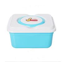 卡秀锁扣式多功能收纳整理箱化妆储物盒蓝色KX626-1