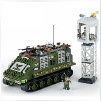 全店满99包邮!邦宝 正品拼装积木 儿童益智力拼插塑料积木玩具豹式坦克军事战争