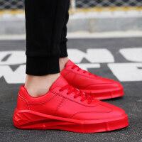 新款红色板鞋男士运动鞋春季增高鞋男厚底潮鞋社会小伙时尚透气鞋