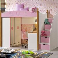 多功能儿童床组合衣柜书桌床 公寓小户型儿童家具