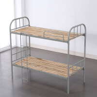 宿舍双层铁床学生上下铺公寓门卫室简易钢制木板床 900mm*2000mm