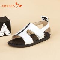红蜻蜓童鞋简约镂空星星图案男女童儿童凉鞋