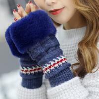 护耳针织毛线帽子女冬季时尚棉帽潮韩版百搭加厚防风保暖可爱手套新品 均码,有弹性