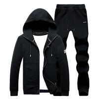 卫衣套装男冬季潮流韩版新款时尚帅气春款两件套开衫衣服男装