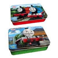 托马斯和朋友阶梯训练成长铁盒拼图 自信的詹姆士60片+优雅的亨利100片 附赠参考图及故事书